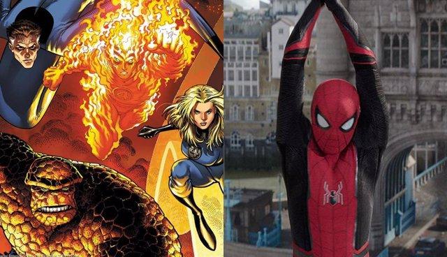 Imagen de cómic de Los 4 Fantásticos / Fotograma de Spider-Man: Lejos de casa
