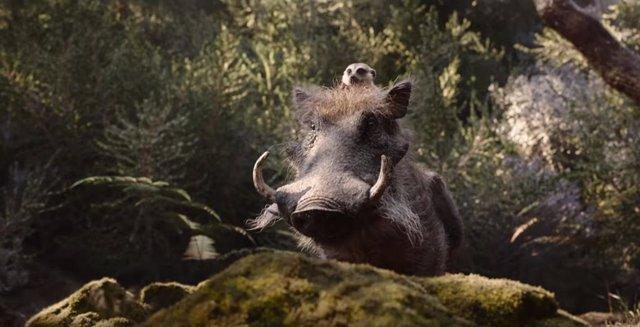 Timón y Pumba en El Rey León