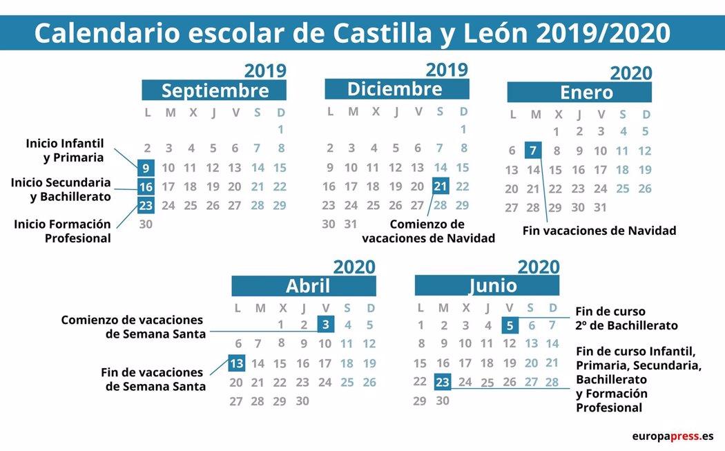 Calendario Escolar Aragon 2020.Calendario Escolar 2019 2020 Por Comunidades Navidad Semana Santa
