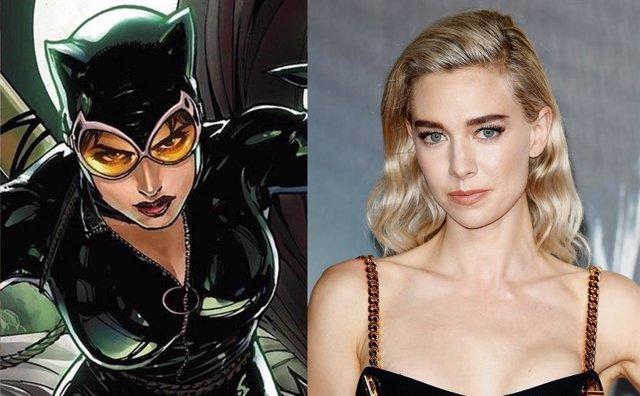 Catwoman y la actriz Vanessa Kirby