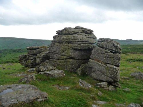 Erosión de rocas en el Dartmoor National Park