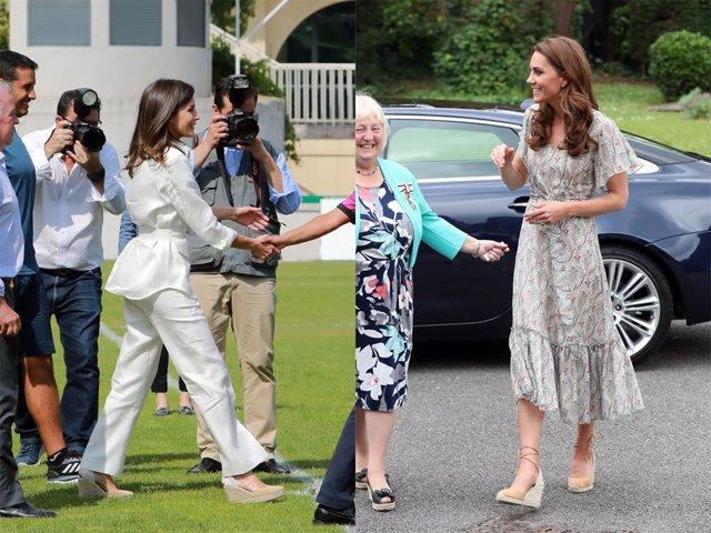 Un montaje de la Reina Letizia y Kate Middleton