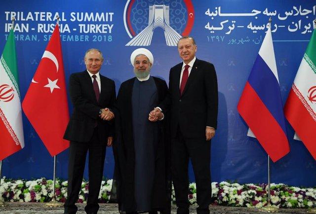 Cumbre tripartita de los presidentes de Rusia, Turquía e Irán sobre Siria