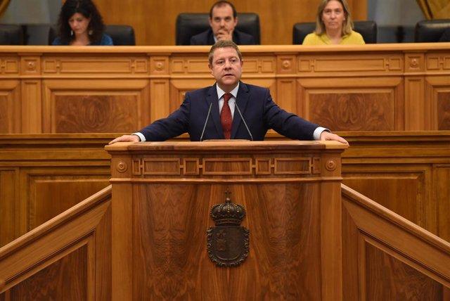 Emiliano García-Page en la segunda sesión del Debate de Investidura