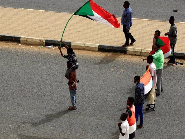 Manifestantes en Jartum