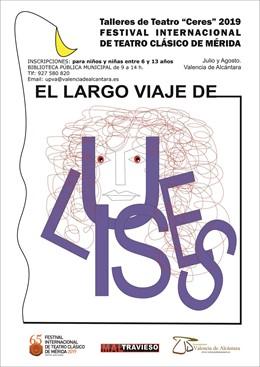 Cartel de un taller de teatro en Valencia de Alcántara