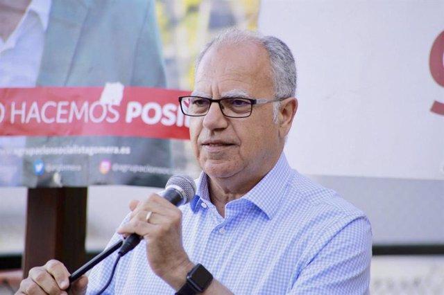 El líder de ASG, Casimiro Curbelo, en una foto de archivo de la noche electoral