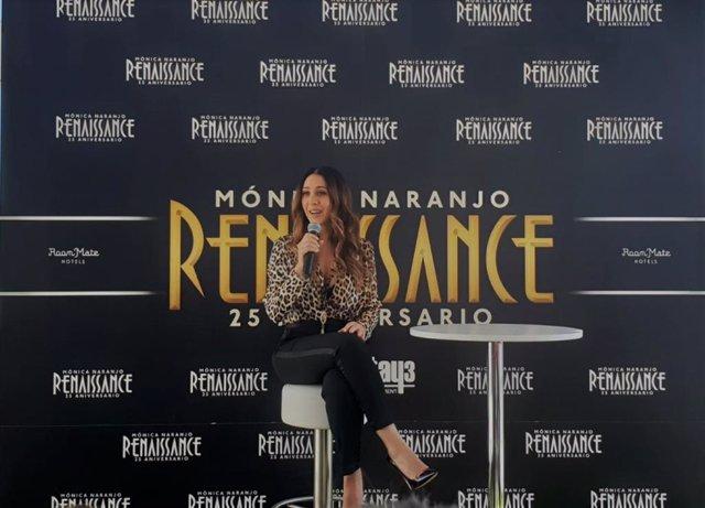 Mónica Naranjo en la presentación de su nuevo disco