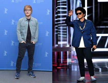 Escucha la guitarrera y rockera colaboración de Ed Sheeran con Bruno Mars y Chris Stapleton