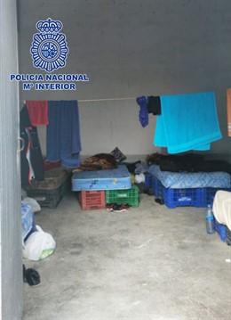 Imagen de la morada intervenida y las condiciones en las que se encontraba