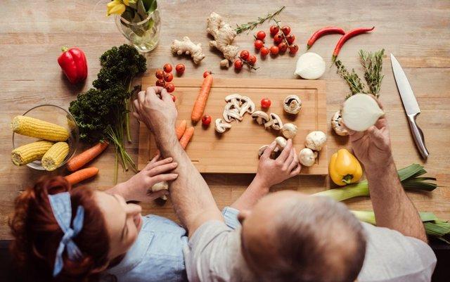 Alimentación, comida vegana vegetariana