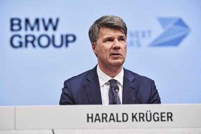 El presidente de BMW, Harald Krüger, en la presentación de los resultados de 2018