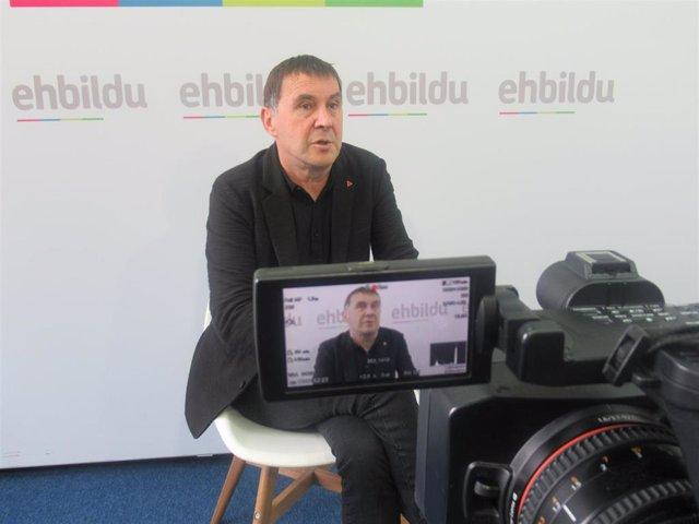 El coordinador  generalde EH Bildu, Arnaldo Otegi