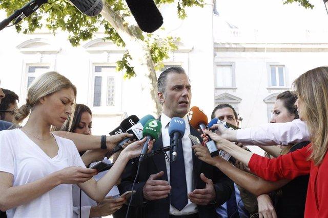 Imagen de archivo del secretario general de Vox y abogado de la acusación popular en el juicio por el 'procés' independentista, Javier Ortega-Smith.