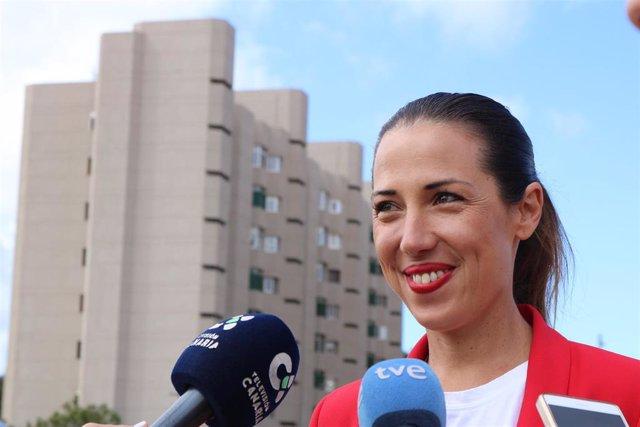 La nueva alcaldesa de Santa Cruz de Tenerife, Patricia Hernández (PSOE), en una foto de archivo