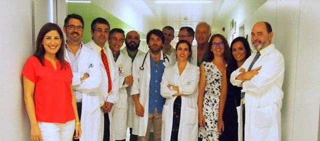 Grupo de investigación del CIBERCV en el Hospital Virgen de la Victoria de Málaga