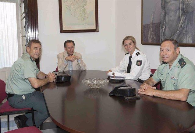 José María Román en la reunión con la policía de Renania del Norte