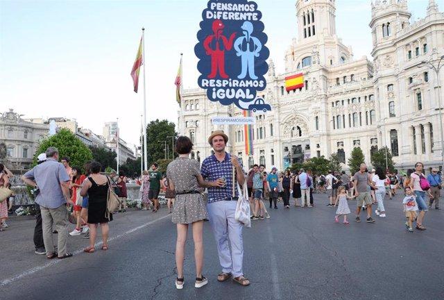 Manifestación a favor de Madrid Central en Madrid