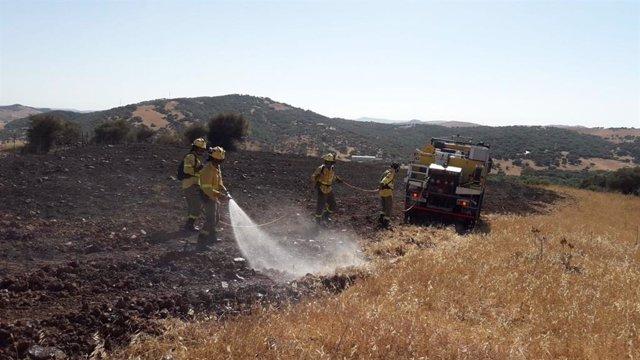 Incendio en Alcaldá de los Gazules
