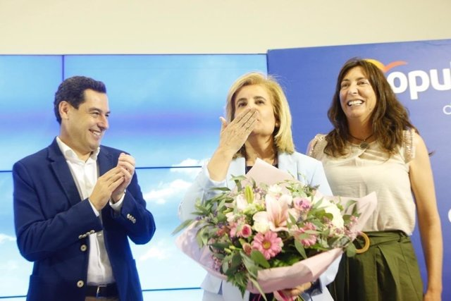 Juanma Moreno, Fátima Báñez y Loles López