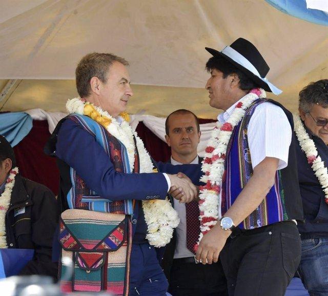 José Luis Rodríguez Zapatero y Evo Morales