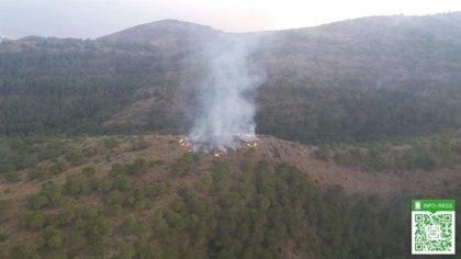 Controlado el incendio forestal declarado en un paraje de Benalmádena (Málaga)