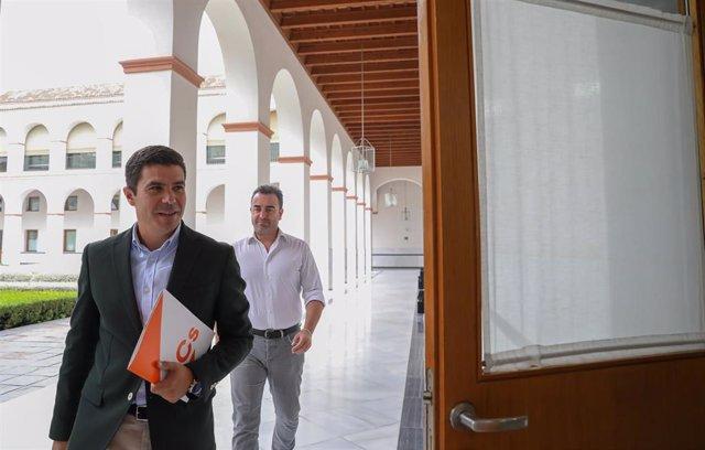 Rueda de prensa del portavoz parlamentario de Ciudadanos (Cs), Sergio Romero. Foto de archivo