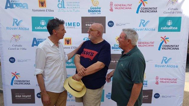 Miguel Lorente-Sorolla Boyer y Juan Martínez de Lahiguera en la presentación del Castell de l'Olla de Altea 2019
