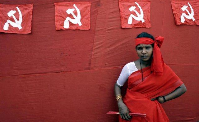 Simpatizante naxalita en Calcuta