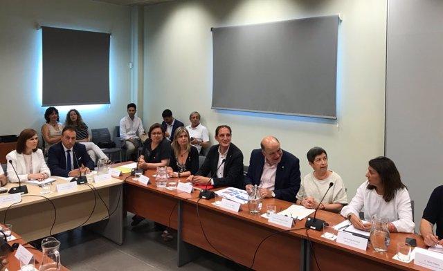 Reunión en Flix sobre el incendio en La Ribera d'Ebre