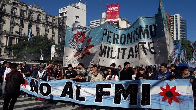 Protestas contra el FMI