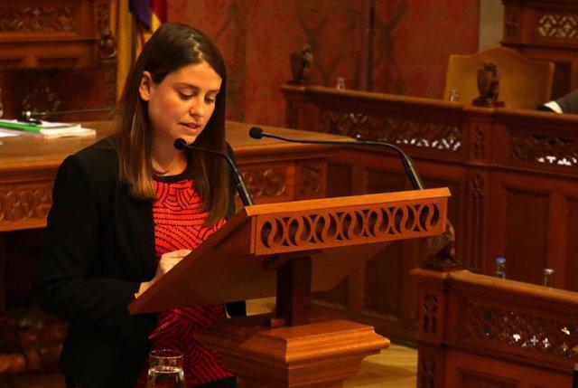 La portaveu de Podem al Consell de Mallorca, Aurora Ribot