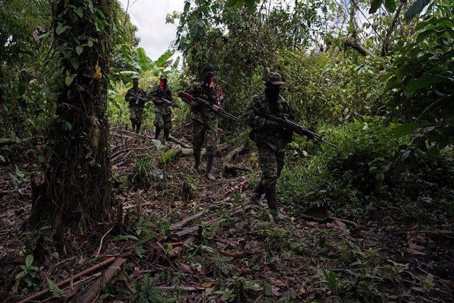 Guerrilleros del ELN en Colombia.