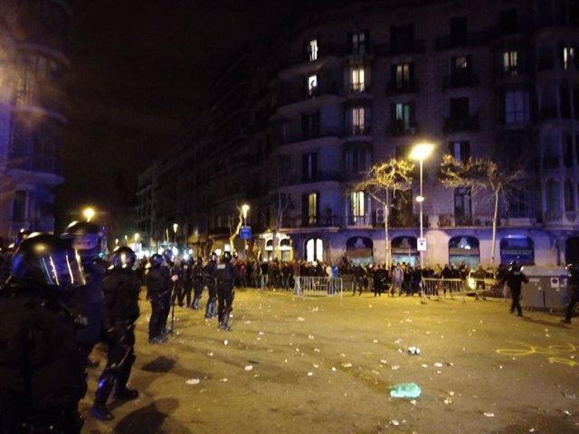 Maanifestación de Barcelona contra la detención de Puigdemont (Archivo)