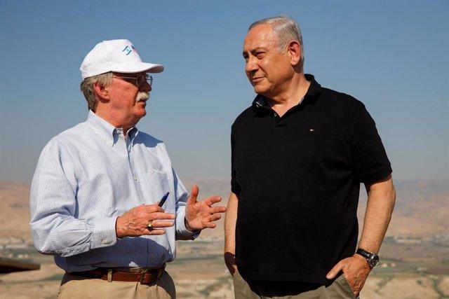 Benjamin Netanyahu y John Bolton