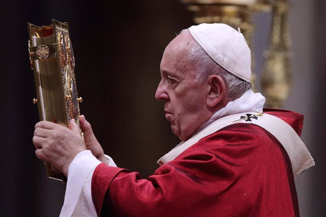 29 June 2019, Vatican, Vatican City: Pope Francis leads a celebration mass on the solemnity of Saints Peter and Paul,in St.Peter's Basilica. Photo: Evandro Inetti/ZUMA Wire/dpa