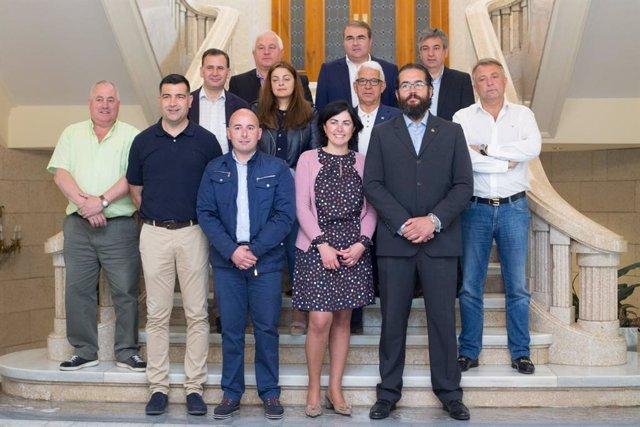 Imagen de los diputados provinciales del PP de Lugo.