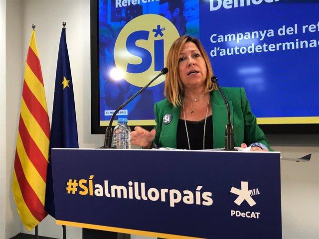 La directora de la campanya del PDeCAT per al referèndum, Montserrat Candini. ARXIU