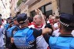 Insultos a UPN durante la procesión de San Fermín