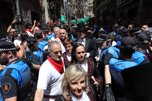 Procesión de San Fermín en la calle Curia