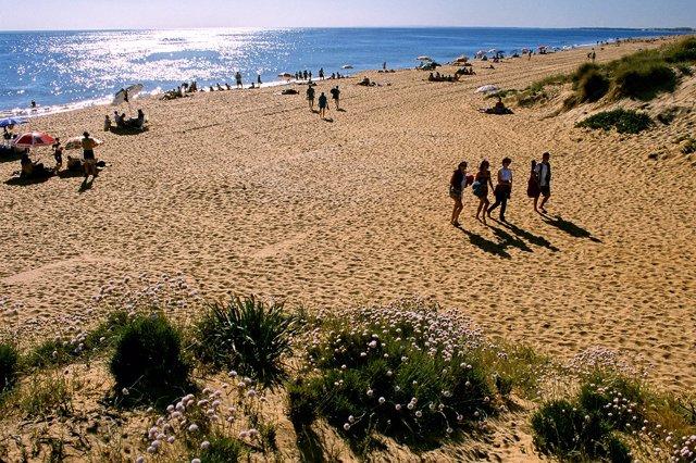 Una platja de Huelva.