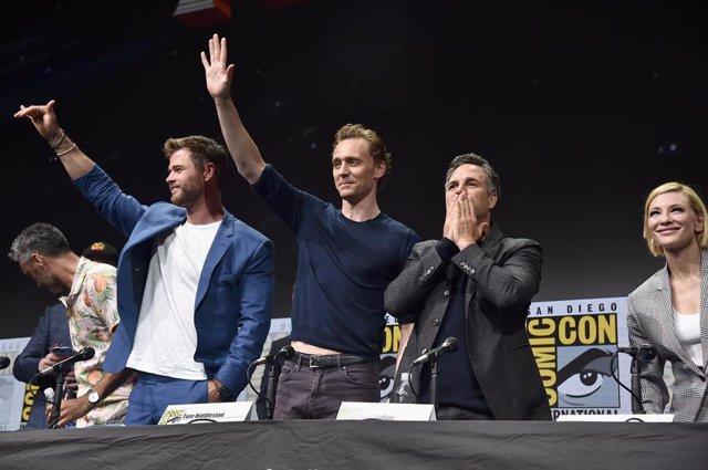 Actores de Marvel en la ComicCon
