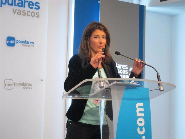 La portavoz del PP Vasco, Laura Garrido