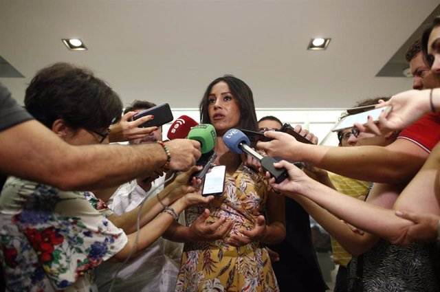 La vicealcaldesa de Madrid, Begoña Villacís, ofrece declaraciones en el Ayuntamiento de Madrid el pasado 1 de julio.