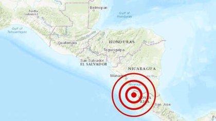 Un sismo de 5,5 grados sacude a Costa Rica cerca de la frontera con Nicaragua