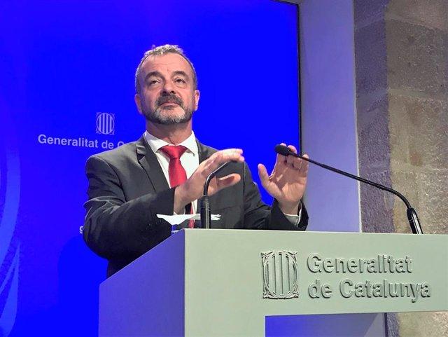 El conseller d'Acció Exterior de la Generalitat, Alfred Bosch