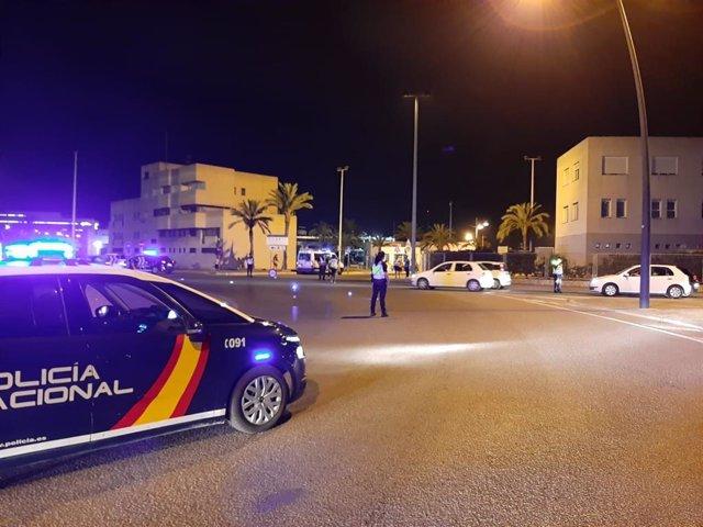 Control policial en Ibiza