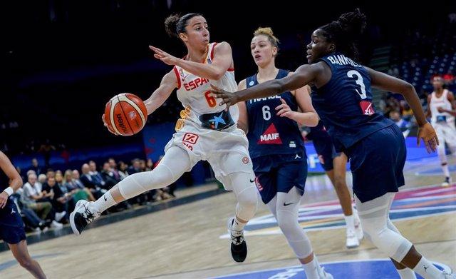 Silvia Domínguez en el España - Francia