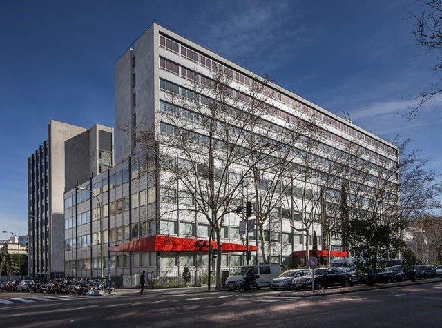 Edificio 'El Cubo' de oficinas de Madrid