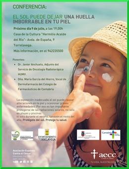 Cartel conferencia Fotoprotección Solar
